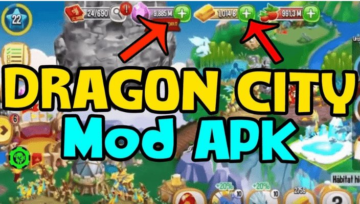 dragon city mod apk unlimited gems and money and food download
