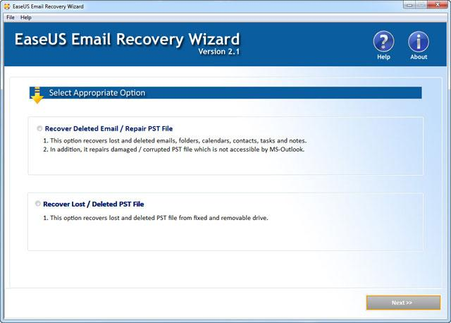Recover Deleted Emails PST file