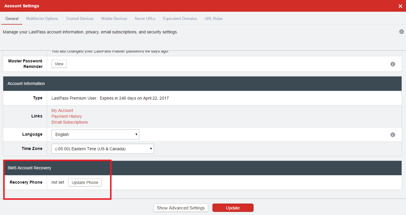 Recover LastPass Account